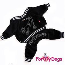 114SS-2014 FoMyDogs Костюм CHINESE CR. DOG велюровый черный, унисекс, р.14 спинка 30 см, грудь 40 см