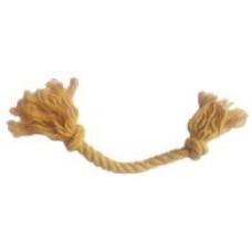 4118 Игрушка Грейфер для собак 2 узла, песочный, мягкий, 15 см, д. 8 мм