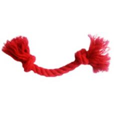 4157 Игрушка Грейфер для собак 2 узла, красный, мягкий, 20 см, д. 8 мм
