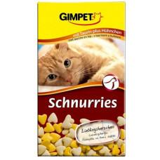 Gimpet Лакомство мультивитаминное Сердечки для кошек Таурин с курицей (1 табл)